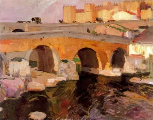 Art by Joaquín Sorolla, The Old Bridge of Ávila