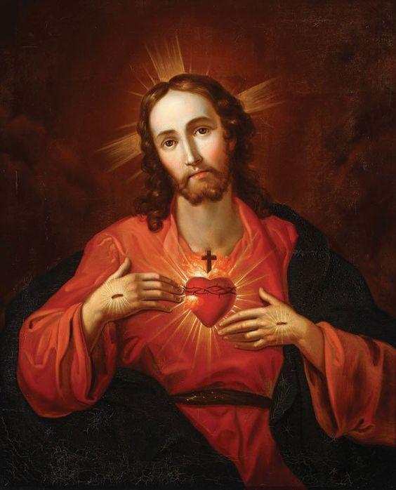 Art by Carl Dietrich (1821-1888) + Sacred Heart of Jesus