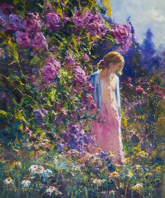 Art by Robert Hagan, Garden Moments