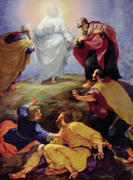 Transfiguration (1596), art by Giovanni Battista Paggi (1554-1627), Basilica San Marco, Florence, Italy