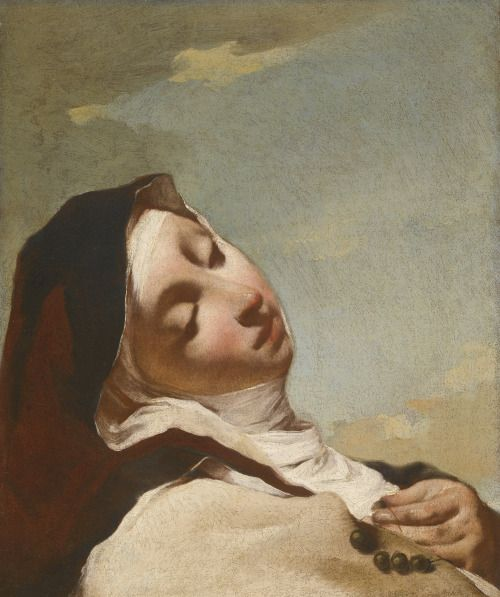 Saint Teresa in Ecstasy, art by Giovanni Battista Piazetta (1682-1754)
