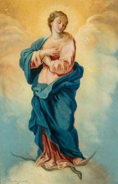 Maria Immaculata ~ Art by Franz Ittenbach, 1879