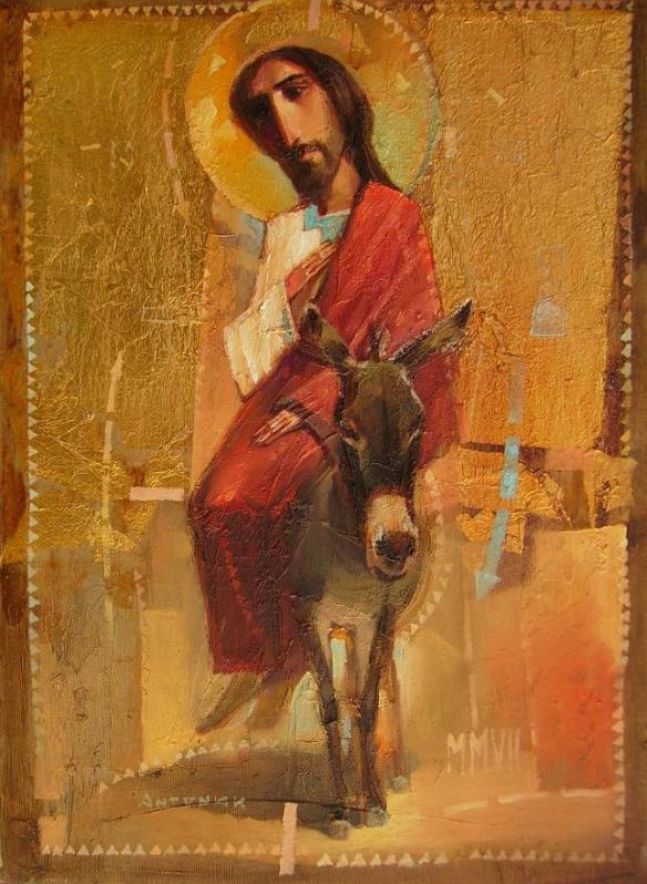 Christ entry into jerusalem by oleksandr