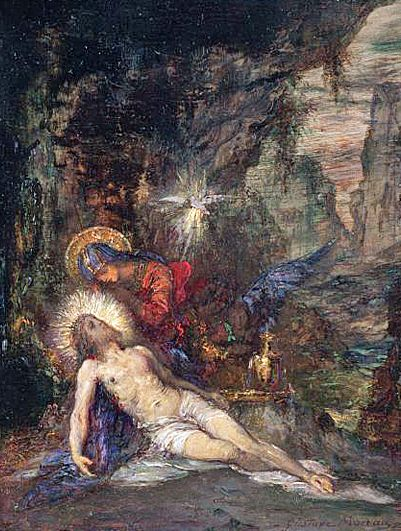 Jesus and mary4 art by Gustave Moreau