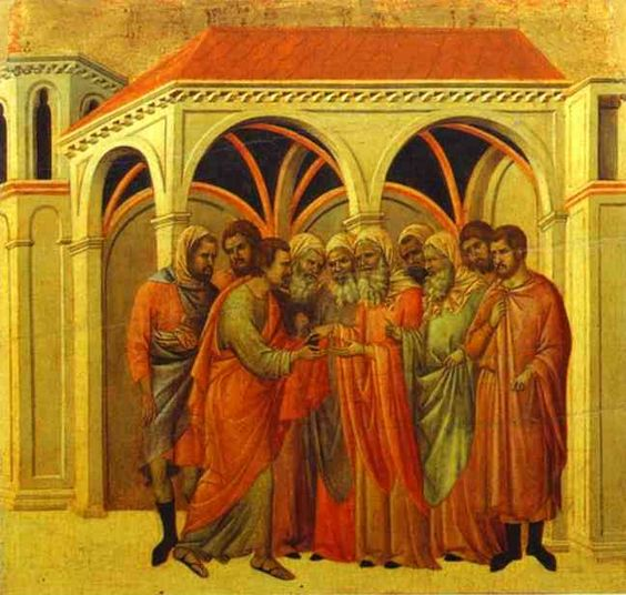 Judas The Betrayal art by Duccio di Buoninsegna