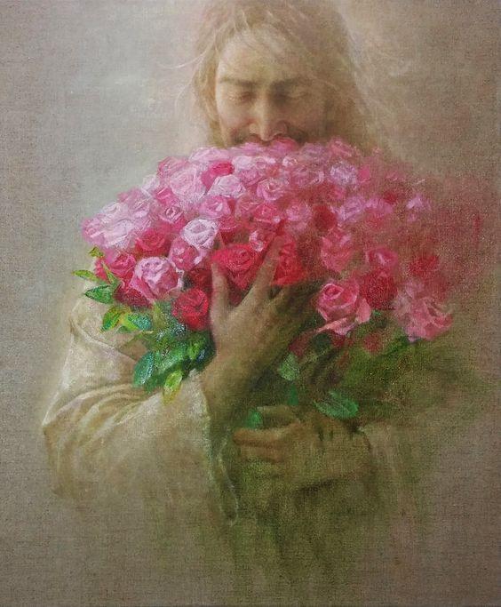 Jesus grace art by yong sung kim