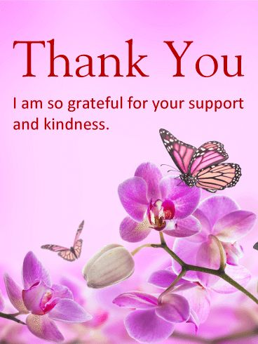 Thank you for your support and kindness
