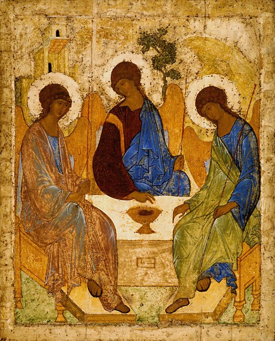 The Holy Trinity art by Andrei Roublev