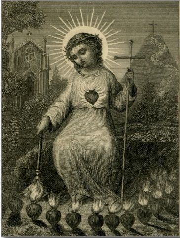 Sacred Heart of Jesus burning in love for us