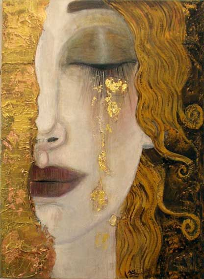 woman art by gustav klimt
