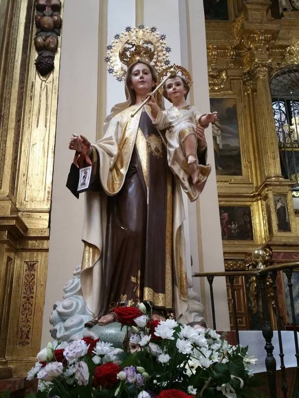 Our Lady of Mt Carmel photo taken by me in Alba de Tormes