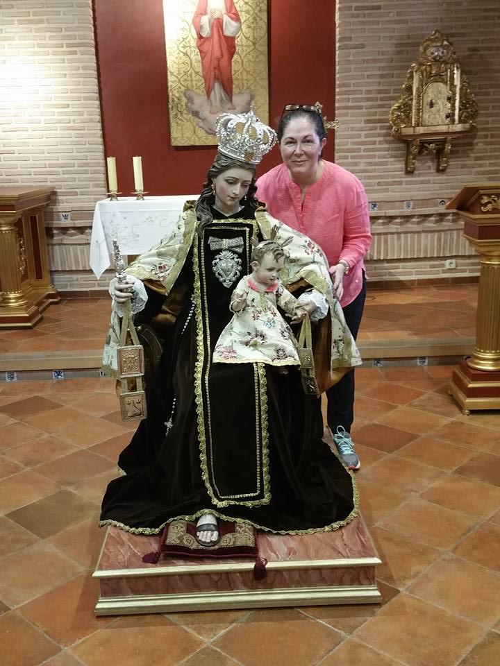 Virgen del Carmen y yo en Toledo