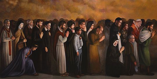 Communion of Saints by john R Mccoy
