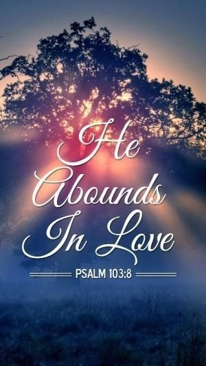 Jesus abounds in love