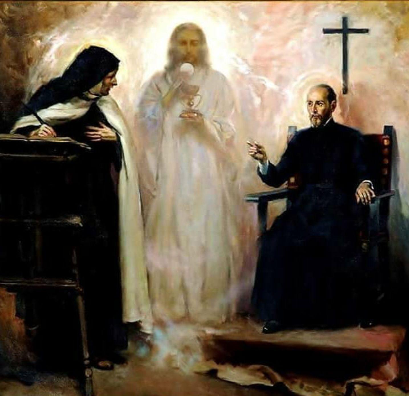 Jesus and Saint Teresa at Holy Communion