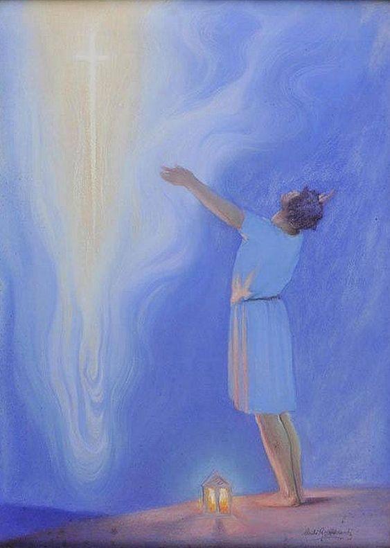man and the cross art by arild rosenkratz