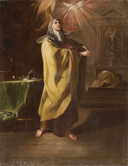 Saint teresa of Avila art by Corrado Yaquinto