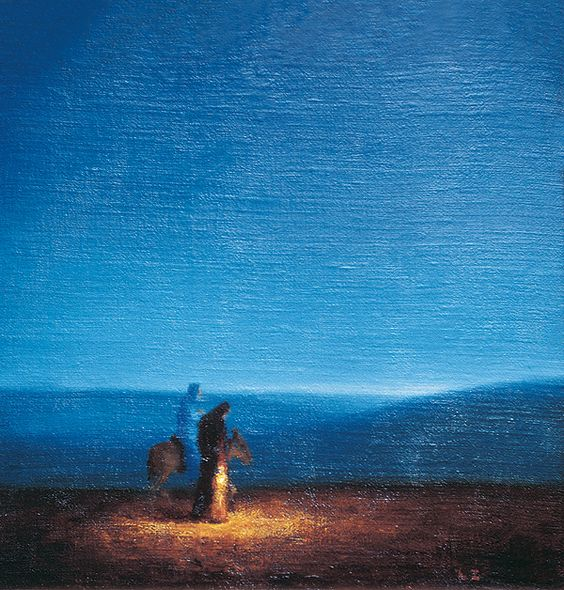Holy Family Flight into Egypt by ladislav zaborsky