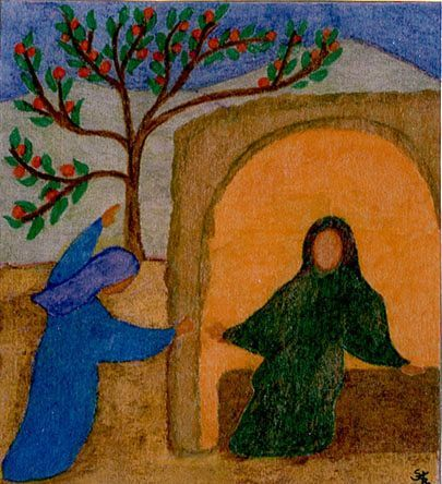 Mary and Elizabeth by brother sylvain of taize