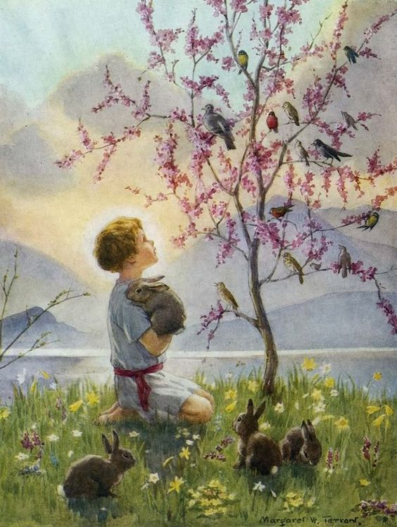 garden and child