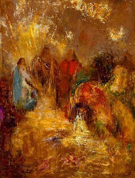 Christ and his disciples art by Odilon Redon