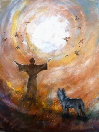 Saint Francis art by Aquarel van Uli Viereck