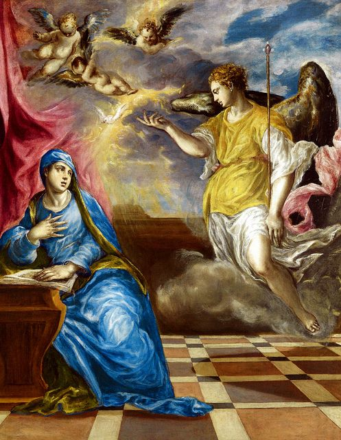 The Annunciation by El Greco 1577