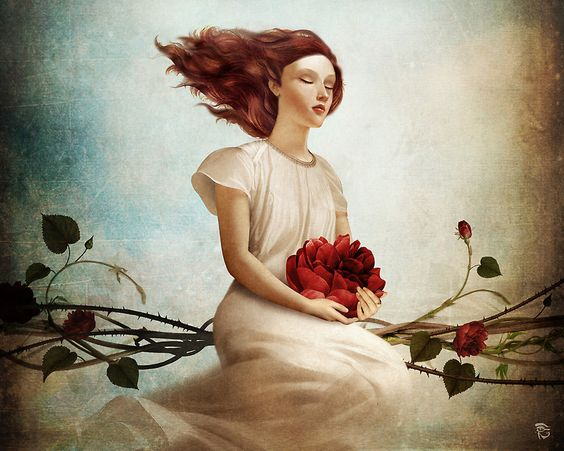 woman and the fountain of love by christian schloe