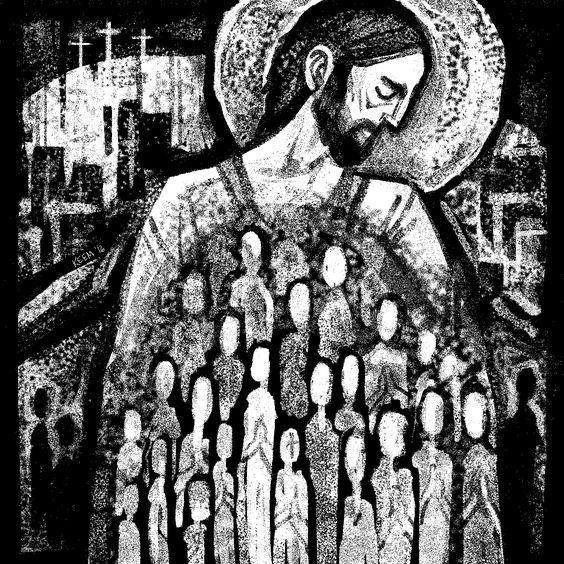 Christ art by Kristin Miller
