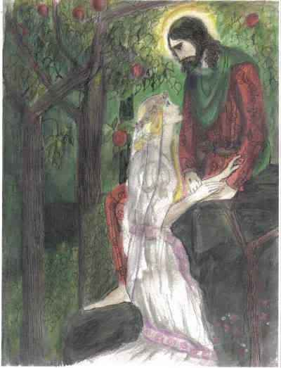 Jesus The Forest Meeting by Amy McCutcheon