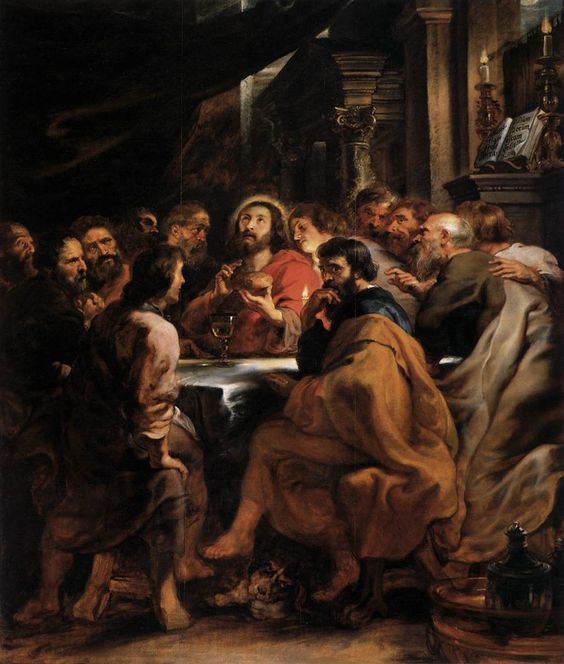 Last Supper art by Rubens 1631-32