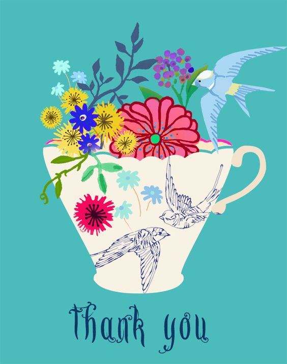 tea cup thank you