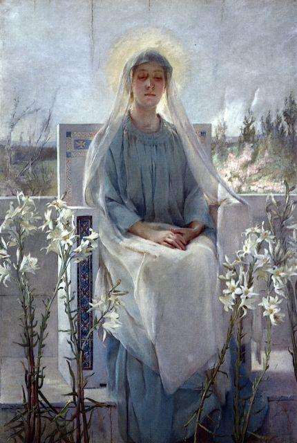 Virgin Mary meditation of the holy Virgin Mary by sarah paxton ball dodson 1889