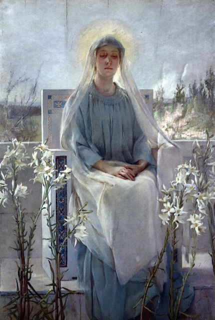 Virgin Mary meditation of the holy Virgin Mary by sarah paxton ball dodson 1889
