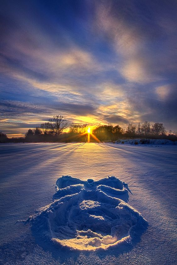 snow angel pic by phil koch