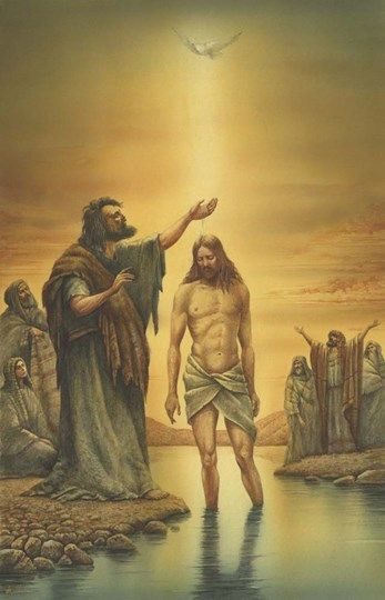 Baptism of Jesus art by Val Bochkocv